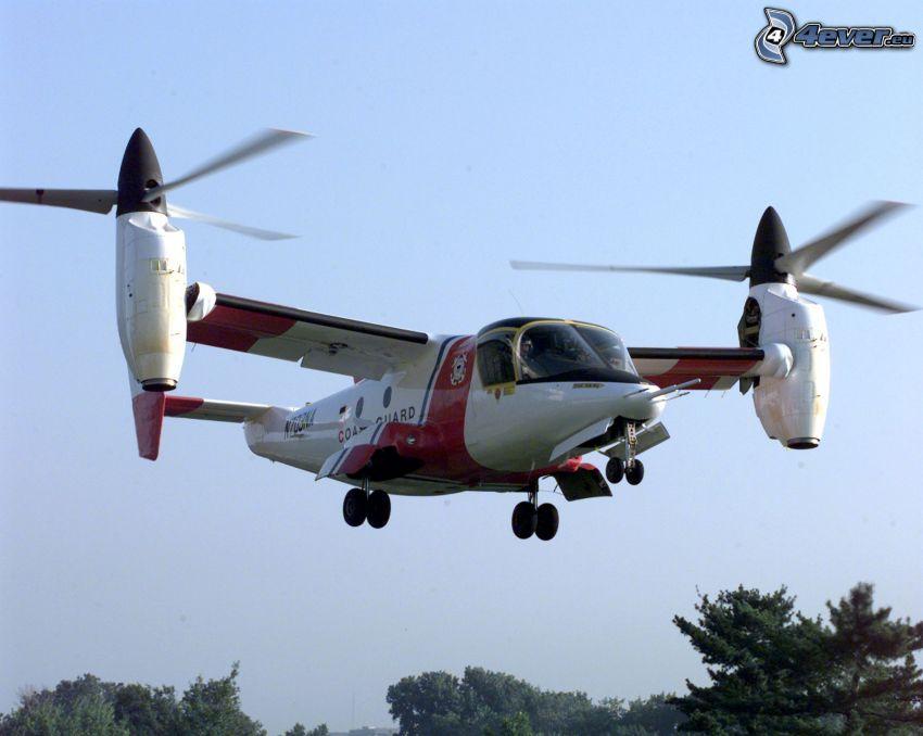 XV15, flygplan, himmel