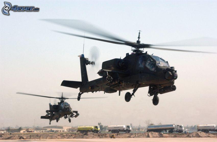 AH-64 Apache, lastbilar