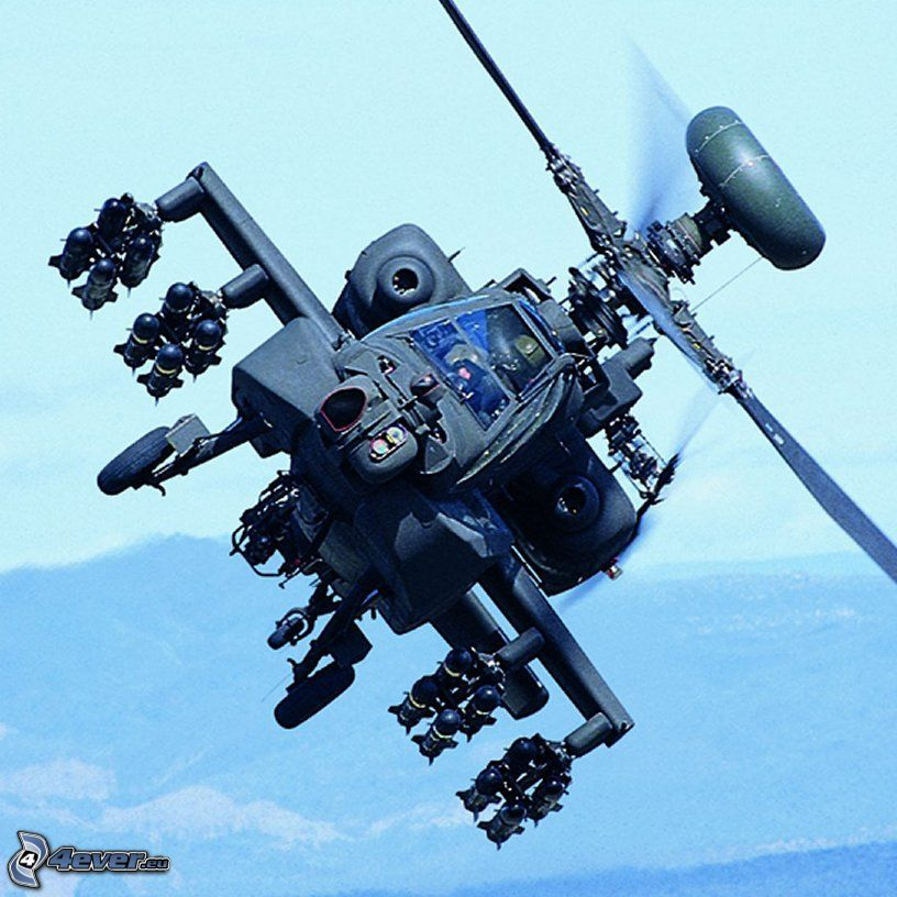 Apache, militär helikopter