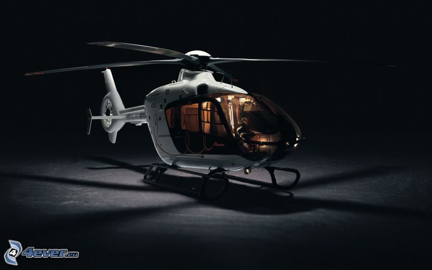 EC 135, person helikopter