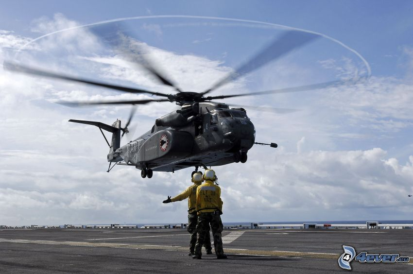 helikopter, män