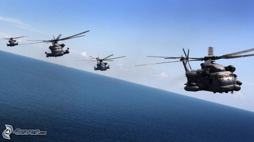 MH-53 Pave Low, militära helikoptrar, hav