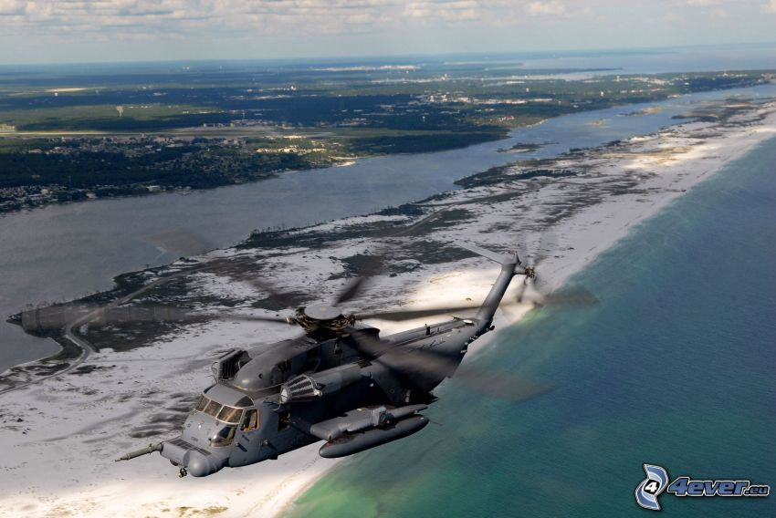 MH-53J Pave Low IIIE, militär helikopter, hav
