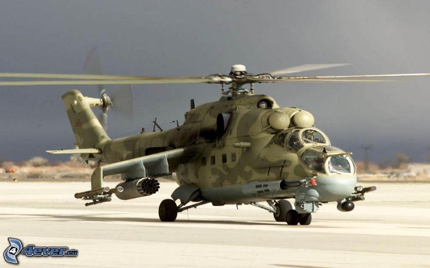 Mil Mi-24, militär helikopter