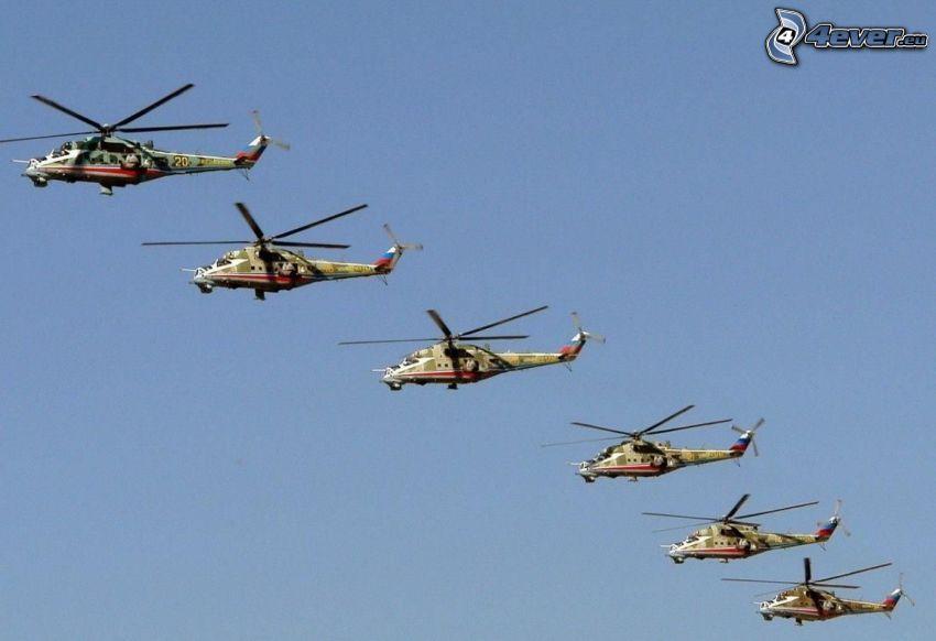 militära helikoptrar