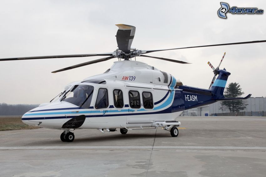 person helikopter, flygplats