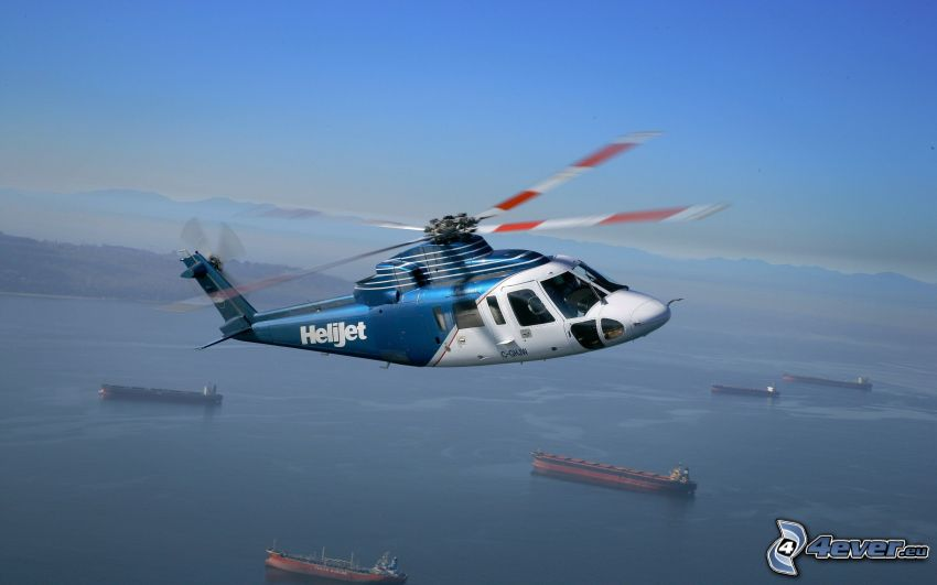 Sikorsky S-76, person helikopter, fartyg