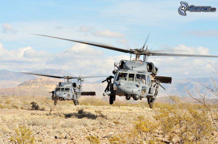 Sikorsky SH-60 Seahawk, militära helikoptrar, landning