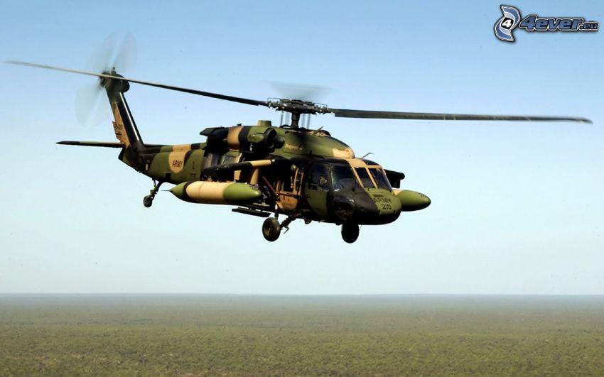 U.S. Black Hawk, militär helikopter