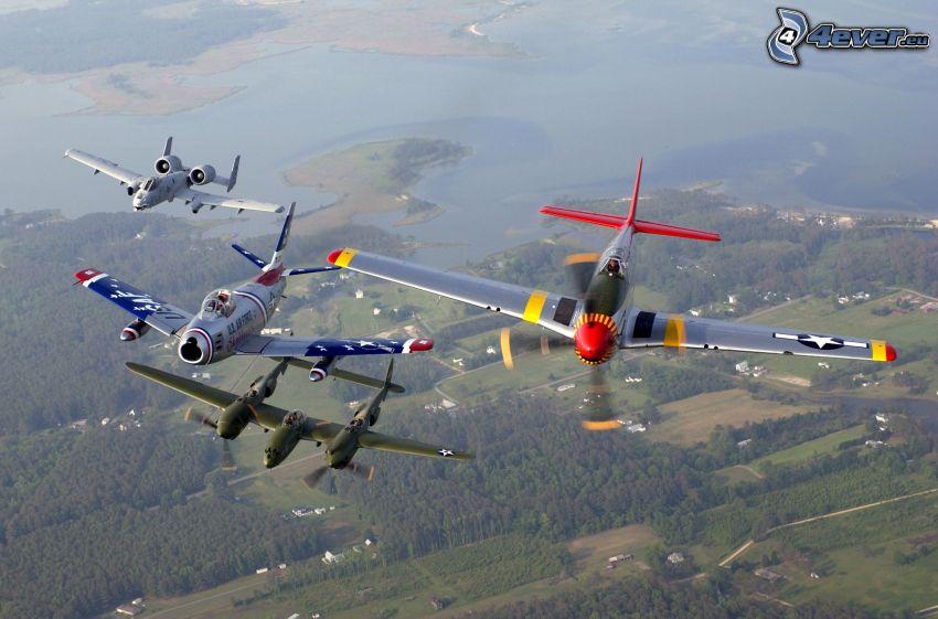 Historiska flygplan, flyguppvisning