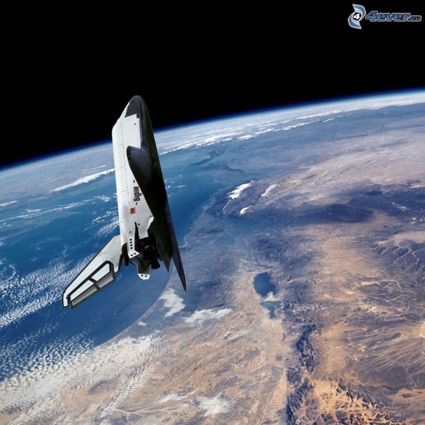 rymdfärjan Buran i omloppsbanan, Jorden