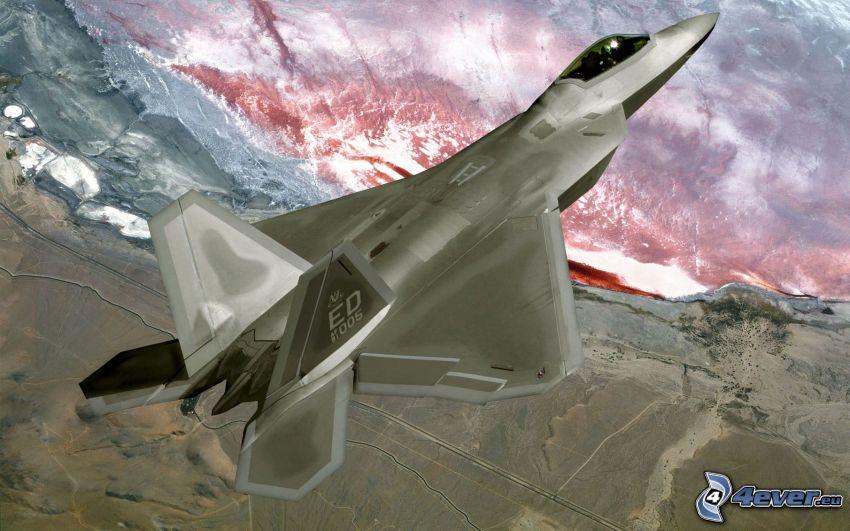F-22 Raptor, lava