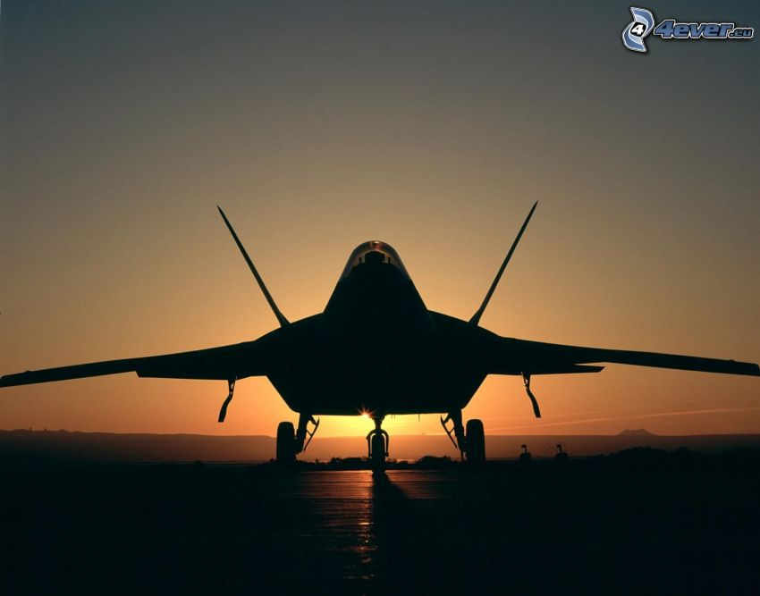 F-22 Raptor, silhuett av jetplan