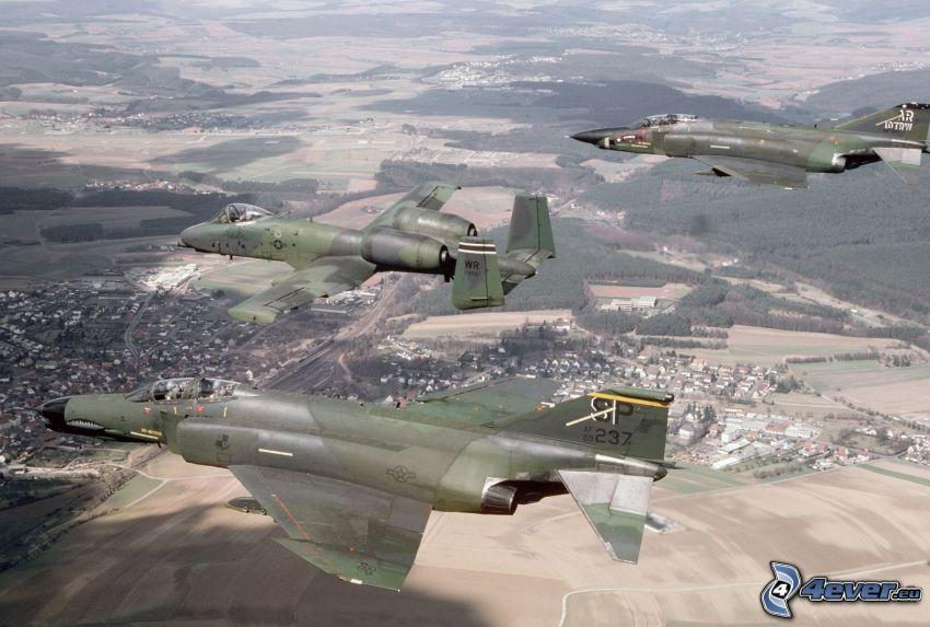 F-4G Phantom III, A-10 Thunderbolt II