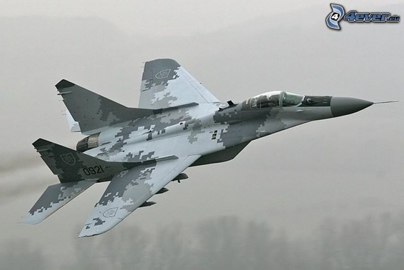 MiG-29, kamouflage, jaktplan