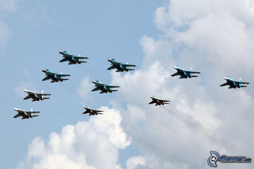 Sukhoi Su-34, flyguppvisning