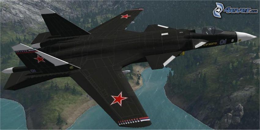 Sukhoi Su-47, sjö