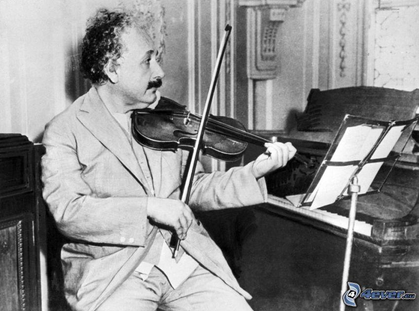 Albert Einstein, fiolspel, piano