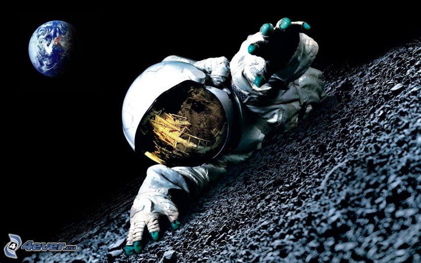 astronaut, planeten Jorden