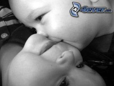 barnkyss, bebis, puss