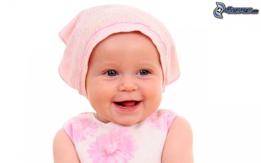 flicka, leende, halsduk