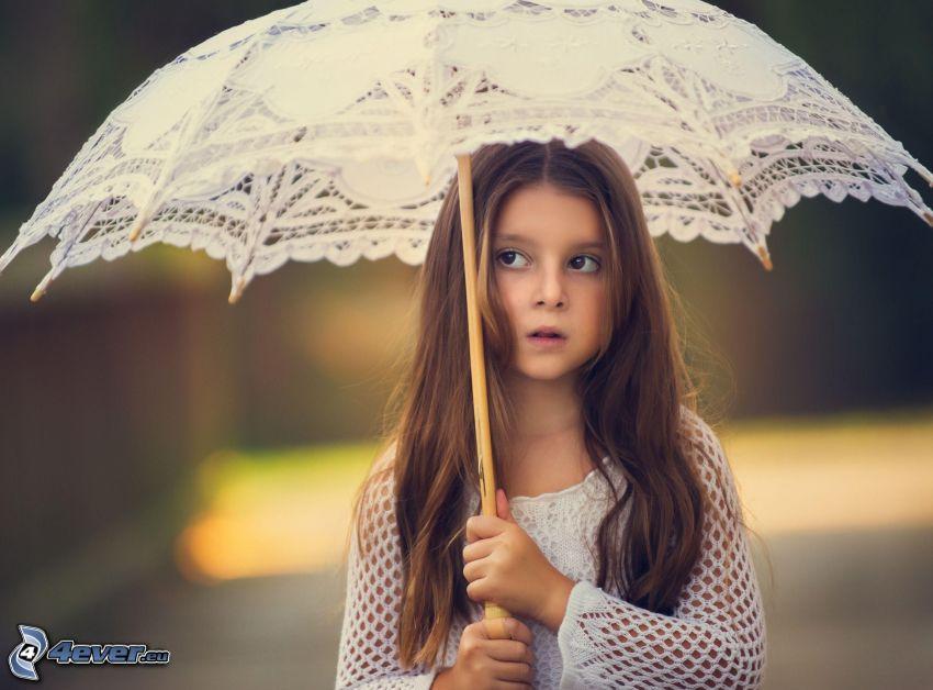 tjej, parasoll