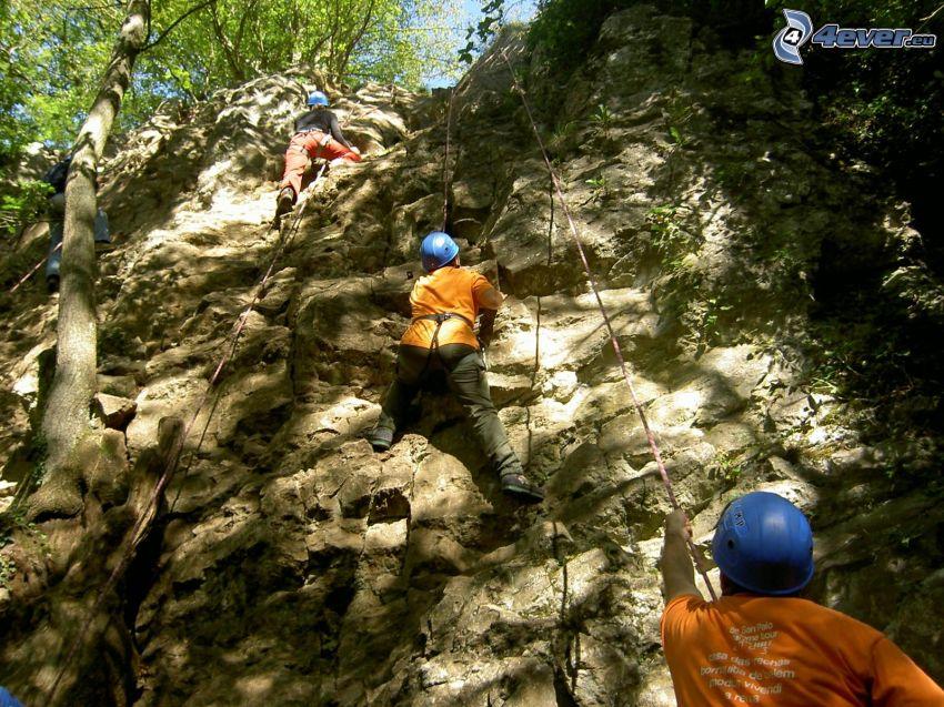 bergsklättrare, klippor, bergsklättring