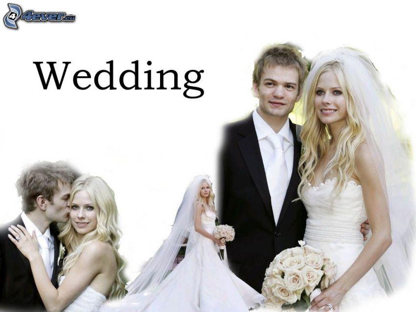 bröllop, brud, brudgum