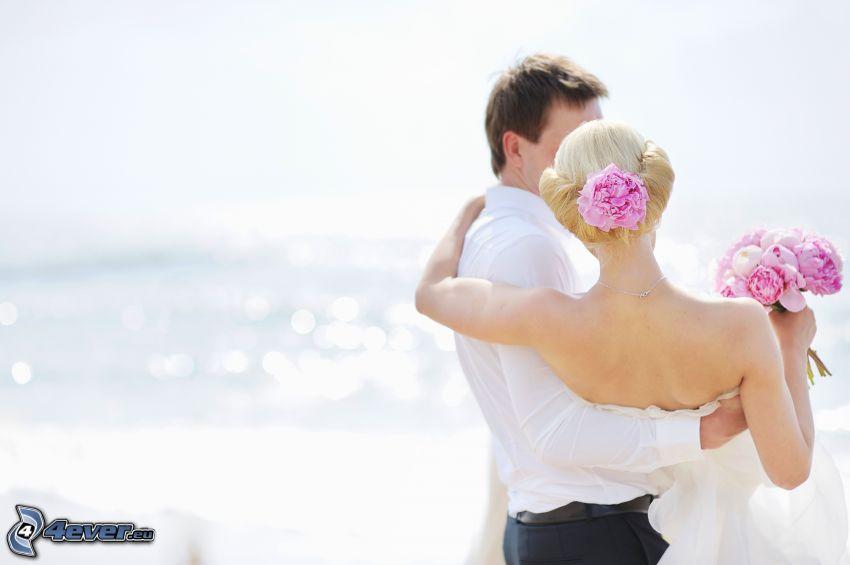 bröllopspar, brud