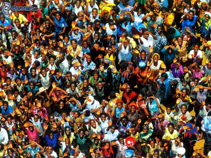 folkmassa, negrer