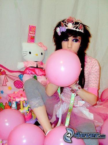 Hello Kitty, rosa