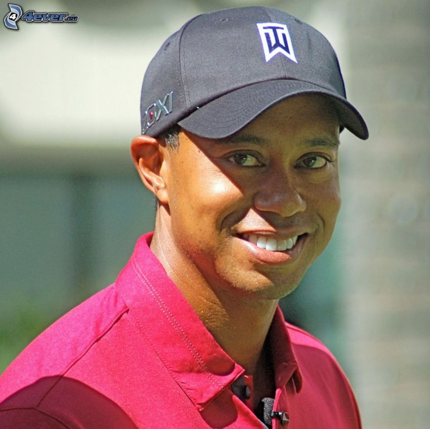 Tiger Woods, leende
