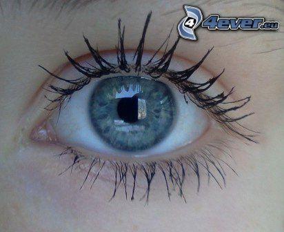 blå ögon