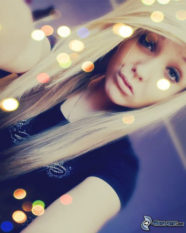 blond flicka