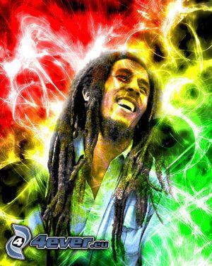 Bob Marley, rasta, man, dreadlocks, mörkhyad man, Jamaica