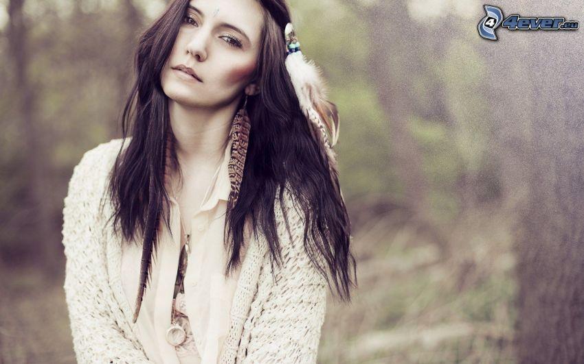 indiankvinna, brunett