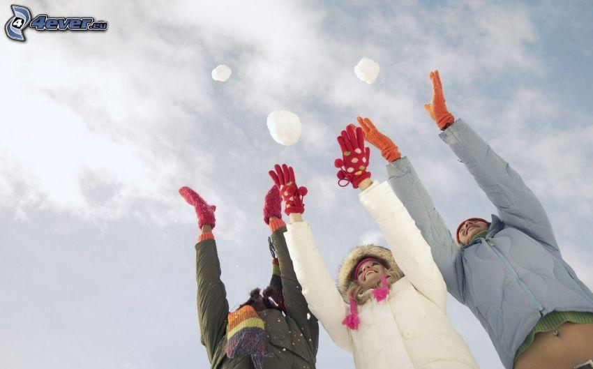 människor, snö