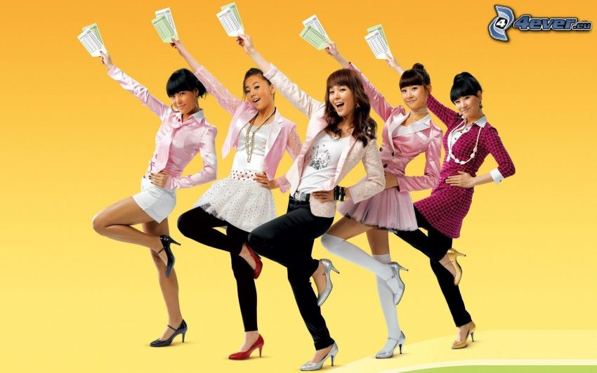 kvinnor, asiat, dans