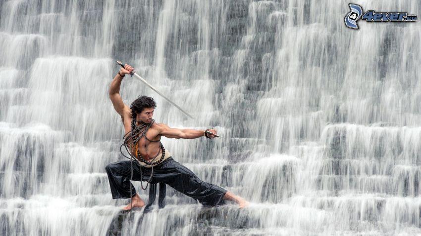 man med vapen, vattenfall