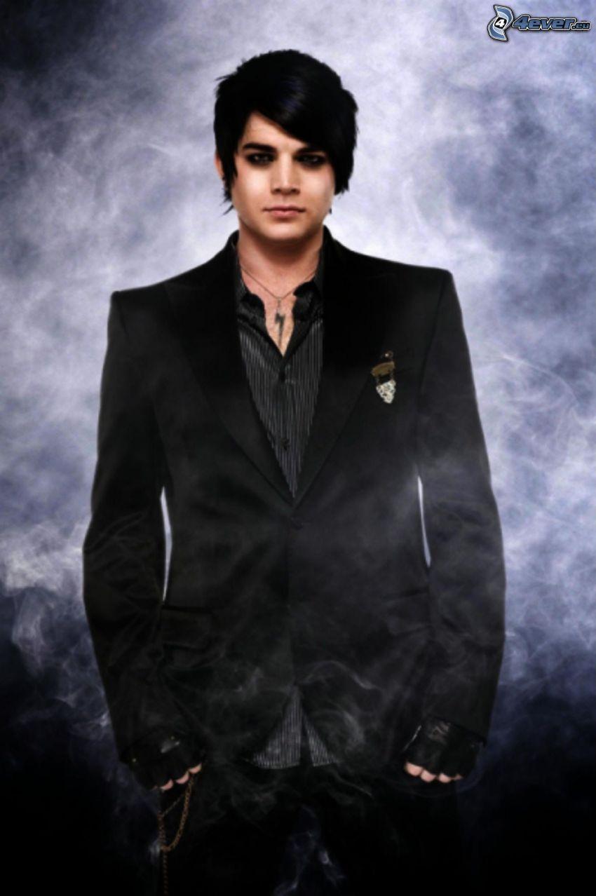 Adam Lambert, kostym, rök