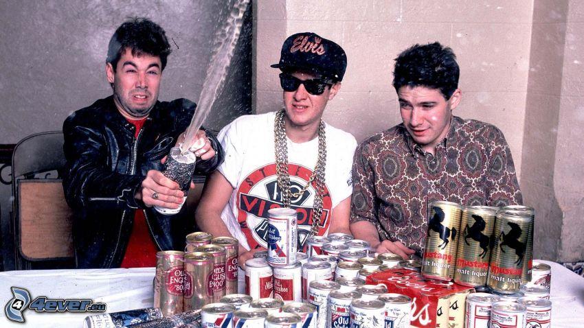 Beastie Boys, öl, plåtburkar