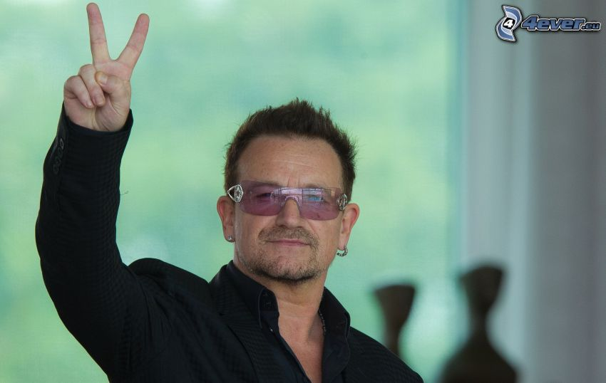 Bono Vox, fred, man med glasögon