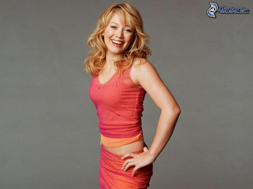 Hilary Duff, leende