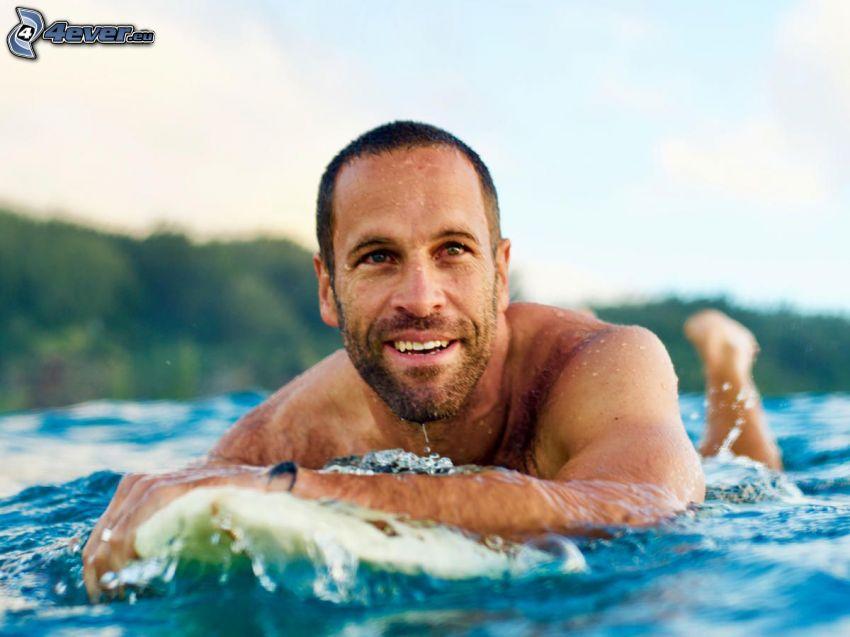Jack Johnson, leende, surfing
