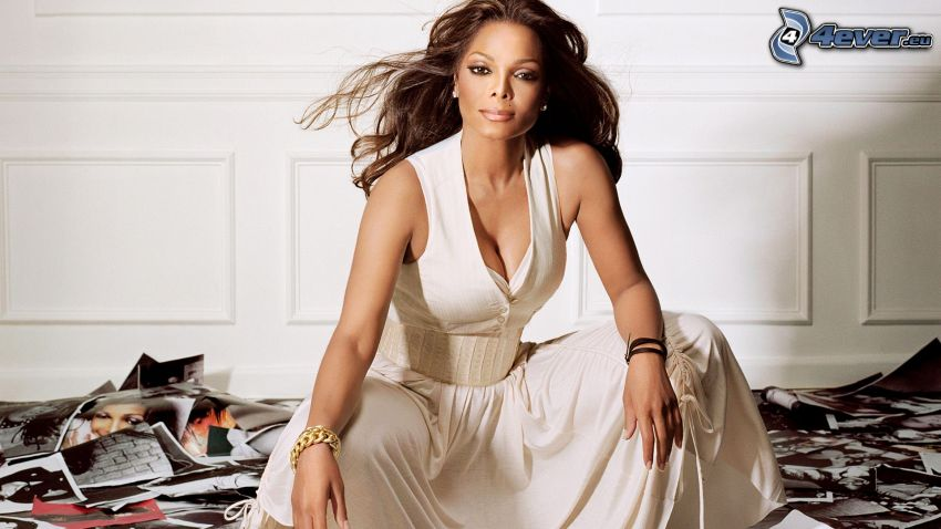 Janet Jackson, vit klänning