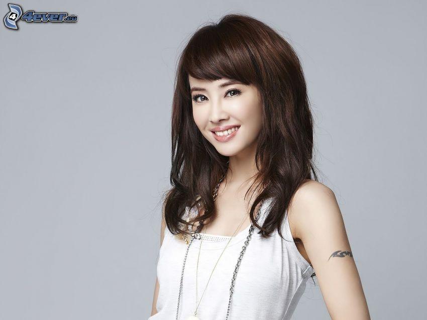 Jolin Tsai, leende