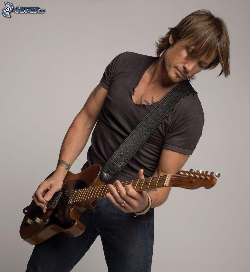 Keith Urban, man med gitarr
