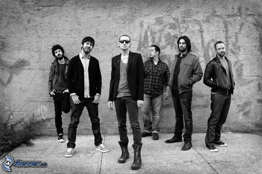 Linkin Park, svartvitt foto