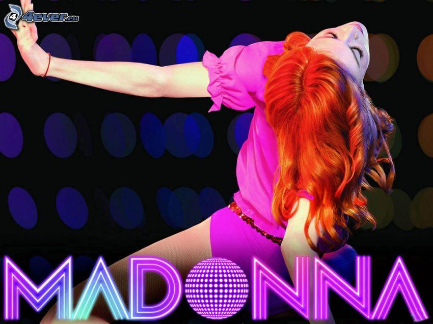 Madonna, rödhårig