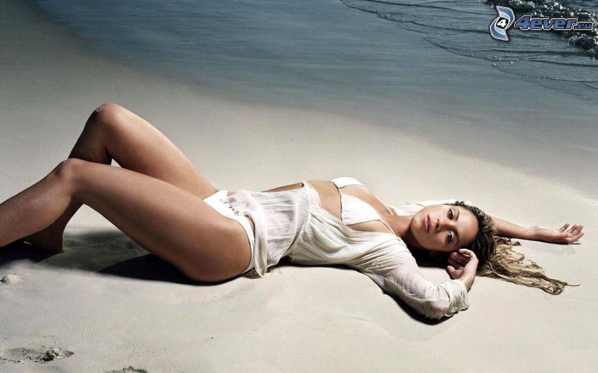 Shakira, kvinna på strand, sandstrand